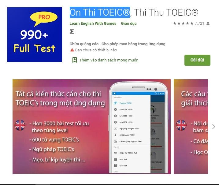 15 app học TOEIC cho người mới bắt đầu
