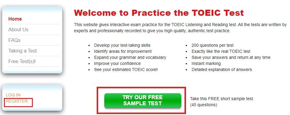 website học toeic-online