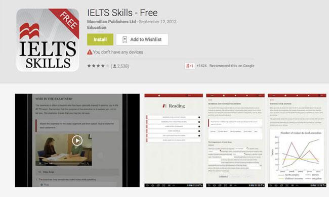App học Ielts Skills